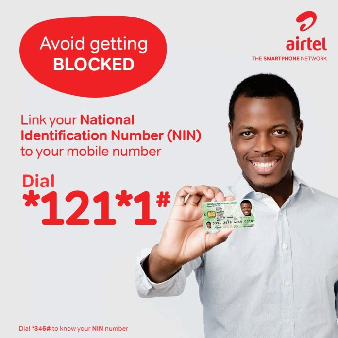 How to link Airtel phone number with NIN.