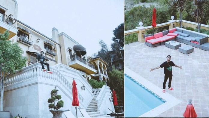 Wizkid's mansion in Los Angeles, California