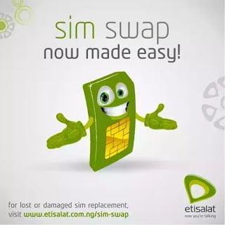 Steps on how to do etisalat sim swap