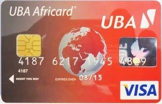 Get UBA Africard (Visa Prepaid Card) in one Hour