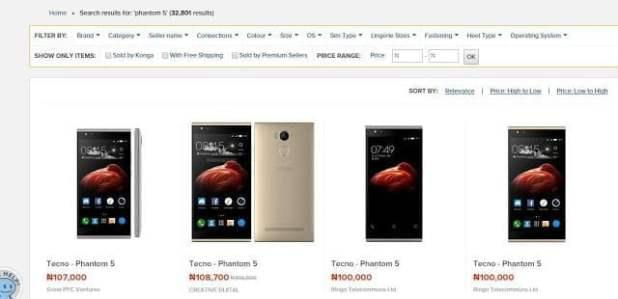 That Moment The Tecno Phantom 5 Is N100,000+