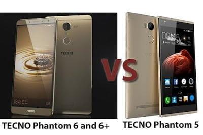 Compare Tecno Phantom 6 and Tecno Phantom 5