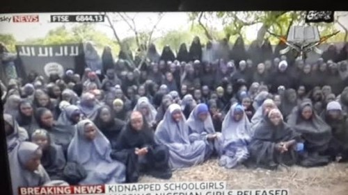 a4 500x281 See Photos Of Abducted Chibok Girls From New Boko Haram Video [Photos+Video]