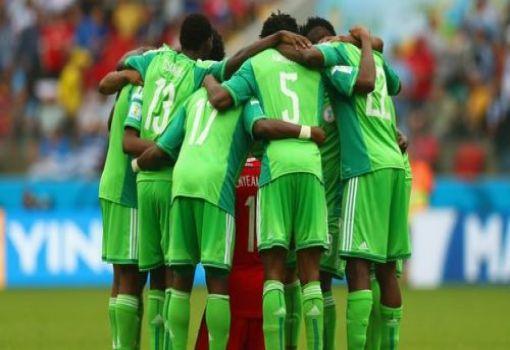 Super Eagles praying 510x350 Adidas Threatens To Suspend Kit Sponsorship Deal With Nigeria
