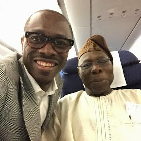 julius agwu and former president obasanjos naijaloaded Julius Agwu Takes A Selfie With Former President Olusegun Obasanjo [Photo]