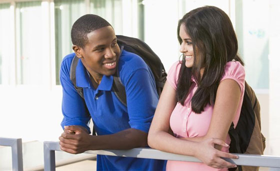 Image result for black guy and girl talking