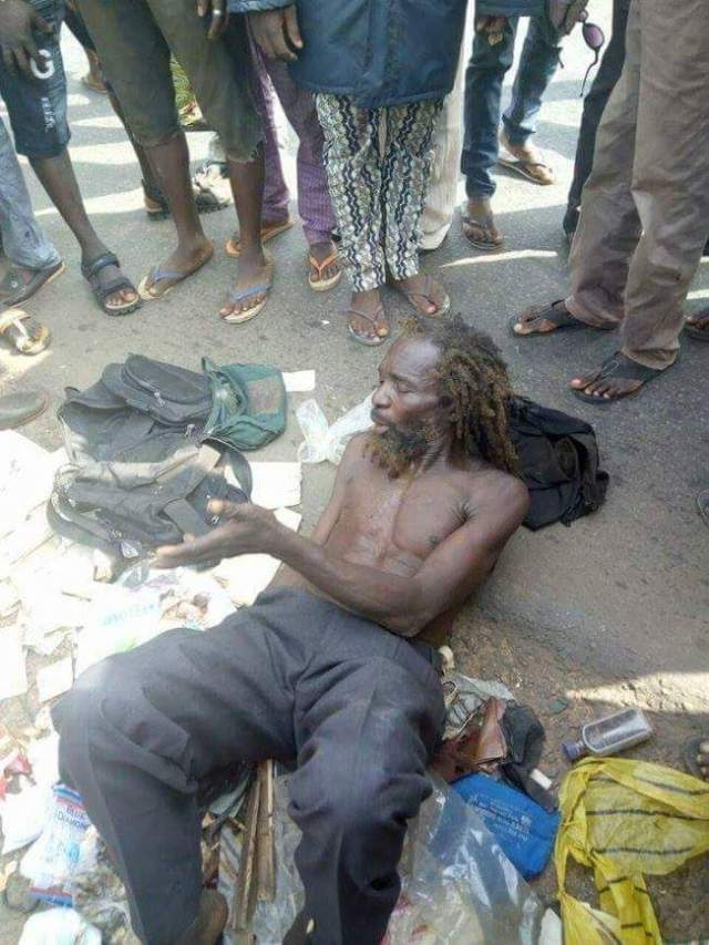 Man Pretending To Be Mentally Challenged Arrested In Ogun State, He Gathers & Sell Used Baby Pampers To Ritualists