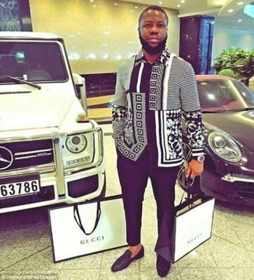 Hushpuppi with his cars