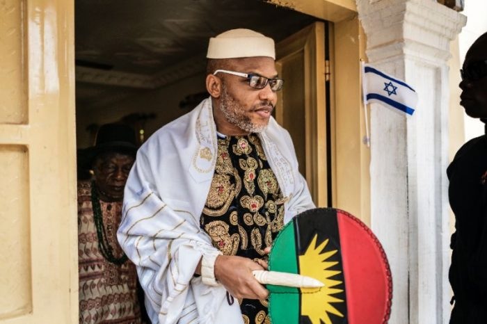 """Nnamdi Kanu 700x466 - """"Nnamdi Kanu Is Not In Our Custody, We Don't Know Where He Is'- Military"""