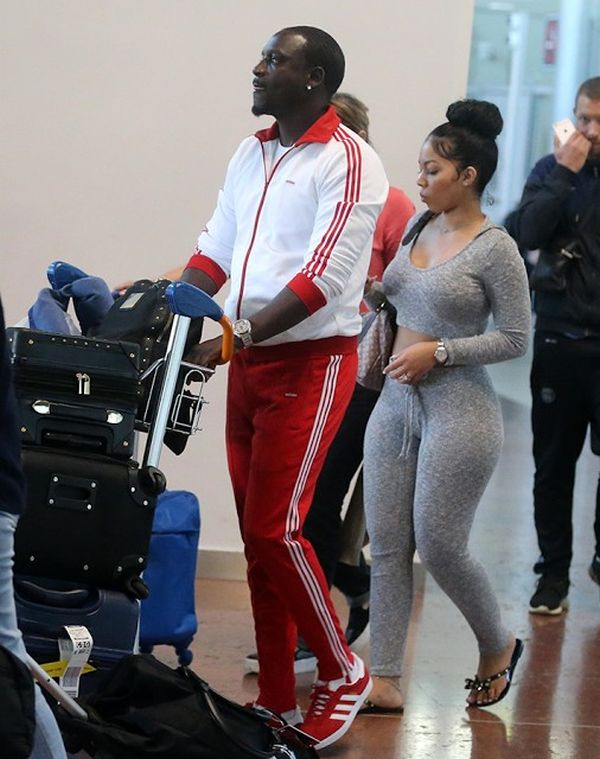 2 135 - Singer Akon Steps Out With One Of His Very Beautiful Wives (Photos)