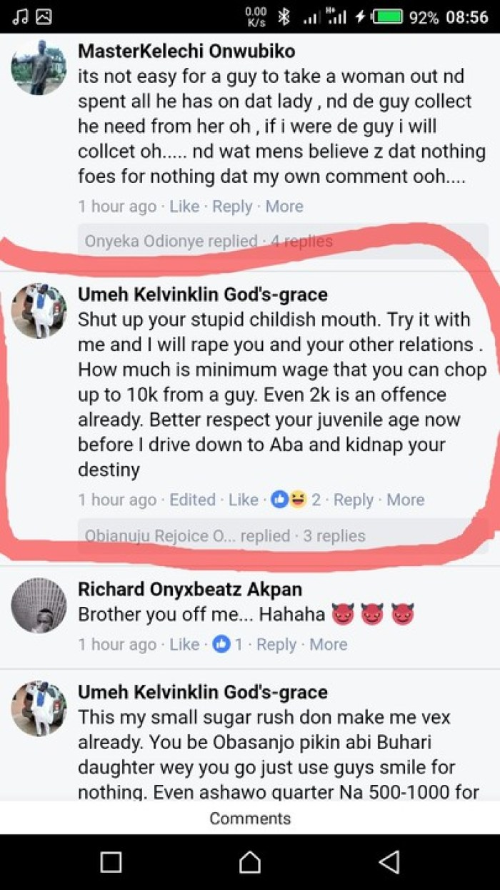 2 136 - Guy Gives Lady Epic Reply After She Claims Women Owe Men Nothing (See Chat)