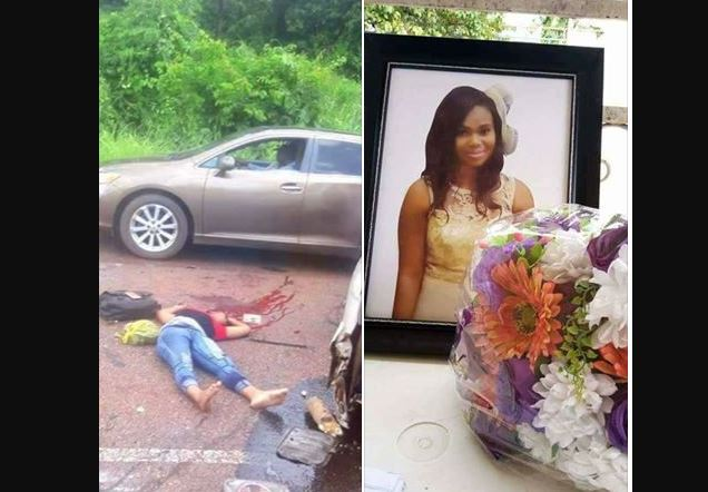 Chinonso from Mbano in Imo State - Lady Dies In Fatal Accident While Traveling For UNIZIK Post-UTME (Graphic Photos)