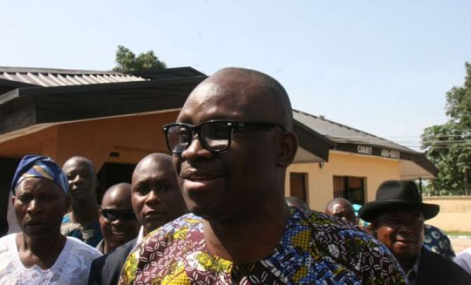 FAYOSE IN COURT.FEDERAL HIGH COURT ADO EKITI 035 e1412150007600 - Ekiti Man Allegedly Sent To Prison For Attempting To Kill Fayose