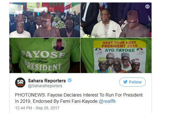 srt - We Can Do It, We Will Do It – Full Text Of Address Delivered By Gov. Fayose On His Presidential Declaration