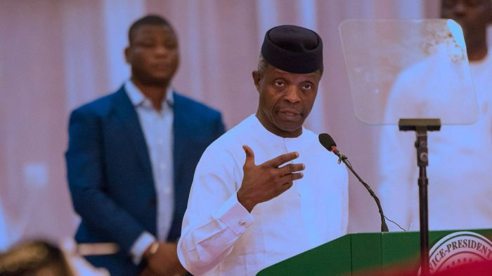 """osinbajo 700x394 - VP Osinbajo On NNPC: """"I Approved Financing Agreements, Not Contracts"""""""