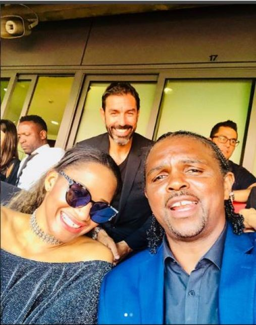 Kanu Nwankwo And His Pretty Wife Spotted At Emirates Stadium