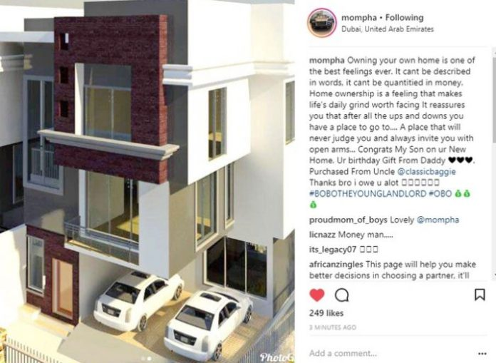 Image result for MOMPHA GIFTS HIS SON A HOUSE FOR HIS 6TH BIRTHDAY (PHOTO