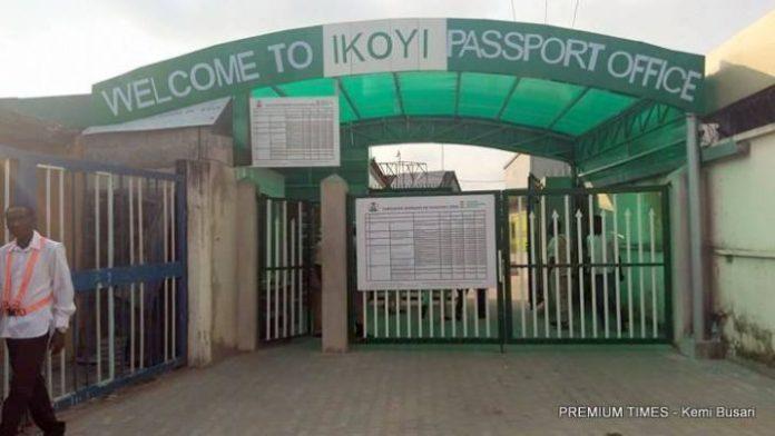 Entrance of Ikoyi passport office e1535453841335 - Shocking: Applicant Dies Inside Ikoyi Passport Office Toilet