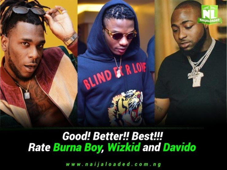 Image result for pictures of Burna boy, Davido and Wizkid