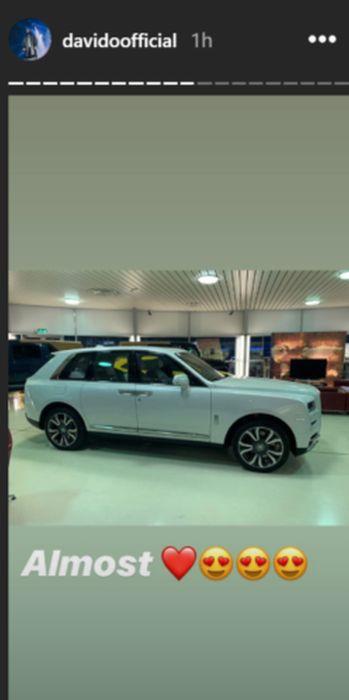 Davido buys 150 Million 2019 Rolls Royce Cullinan