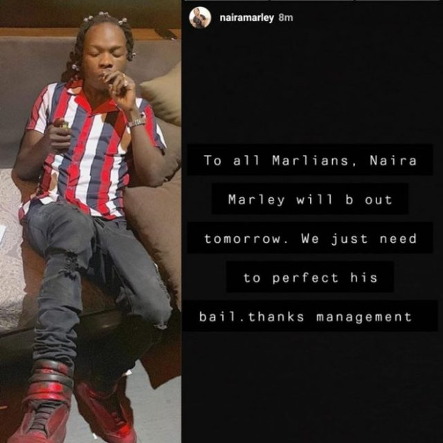 Naira Marley To Be Released Tomorrow – Management Reveals