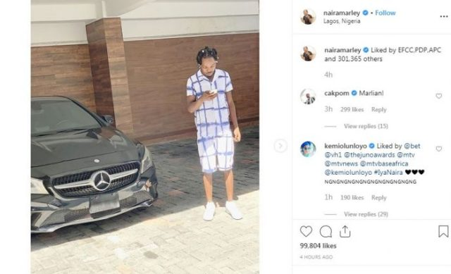 """""""Liked By EFCC, PDP, APC And Others"""" – Naira Marley Captions New Photos"""