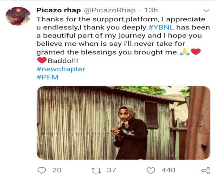 FRESH UPDATE!!! Picazo Exit Olamide's YBNL Record 10