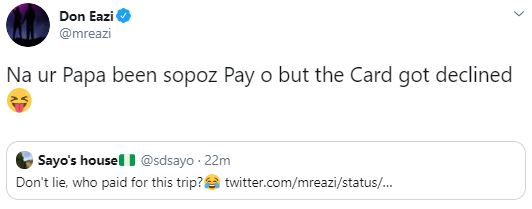 Mr Eazi Savagely Replies A Twitter Troll 10