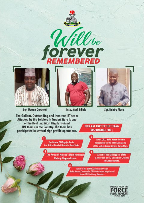 See The Identities Of The 3 Officers Killed By Soldiers In Abia State
