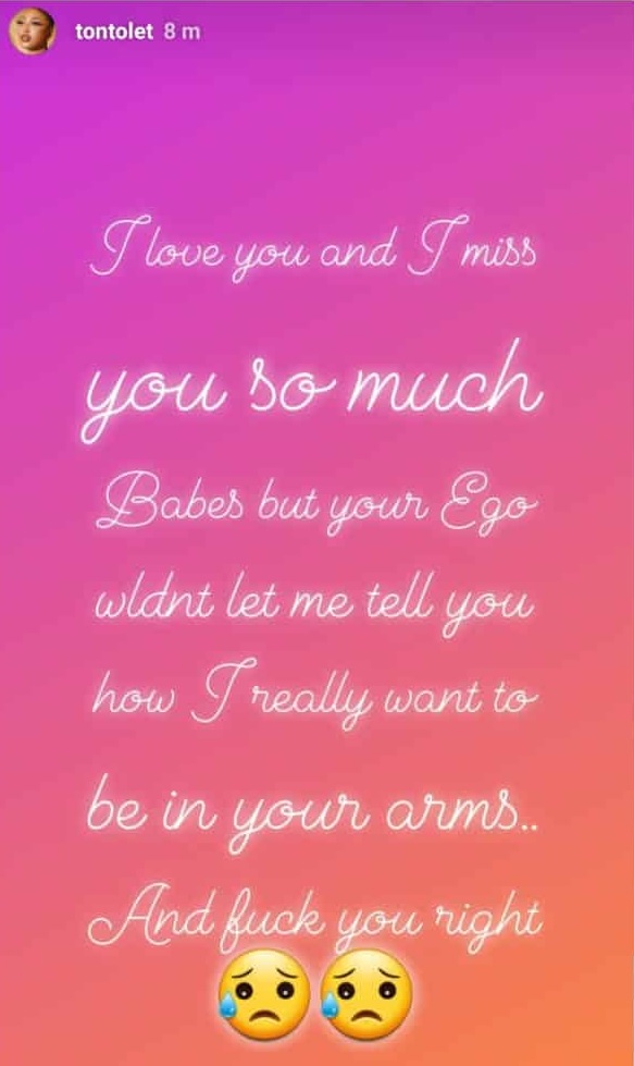 I Really Want To Be In Your Arms And Fvck You Right – Tonto Dikeh Appeals To Her Bae 4