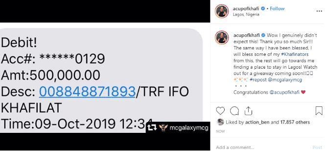 MC Galaxy Gifts Khafi ₦500,000 After She Apologized 3