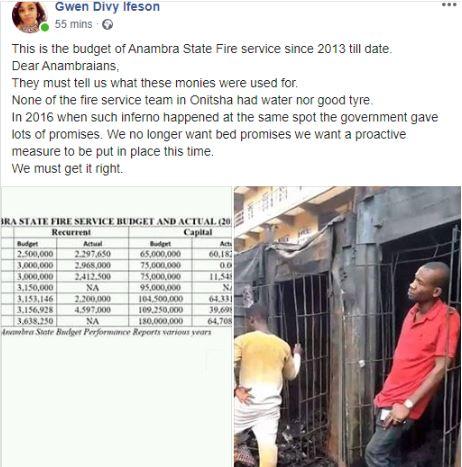 Some Parts Of Ochanja Market In Onitsha Is Still On Fire This Morning 3