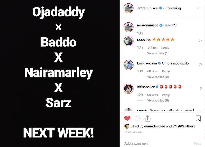 Reminisce Set To Release New Song Featuring Olamide, And Naira Marley 4