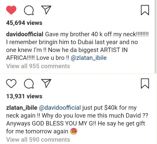 Davido Removed His $40k Diamond Neck Chain And Gifted To Zlatan At An Event (Video) Capture 35