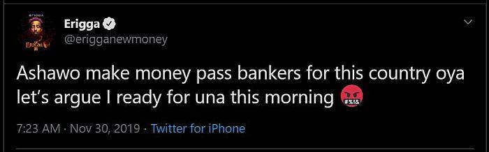 """Ashawo Makes More Money More Than Bankers In Nigeria"" – Rapper Erigga 4"