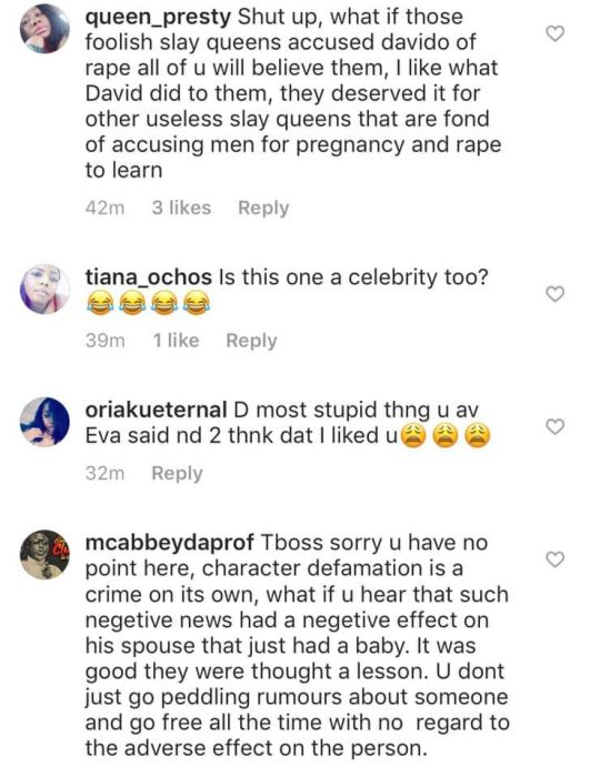 """Nigerians Attack Tboss For Her Comment On Davido's Reaction To The """"Fake Pregnancy Saga"""" 2"""