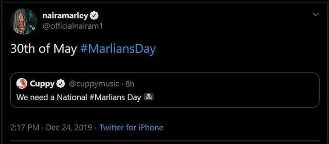 Wizkid & Naira Marley Officially Approve A Date To Celebrate Marlians Every Year (See Date) 2