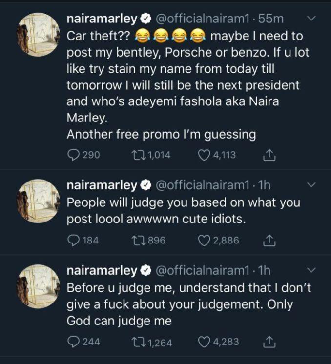 Naira Marley Talks Over Car Theft Allegation 1