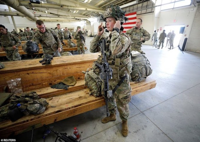 WORLD WAR 3!See Photos Of The 3000 US Soldiers Deployed To Iran After Soleimani's Death 3