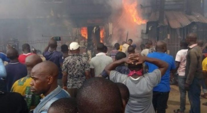 Fire Guts Popular Sabo Market In Ogun (Photos)