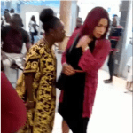 'Husband snatcher!'- Woman assaults lady suspected of being her husband's side chick in crowded Lagos mall. (Video)