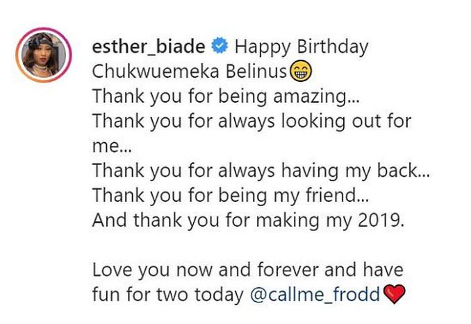 Love You Now And Forever-Esther Celebrates Frodd On His Birthday 1