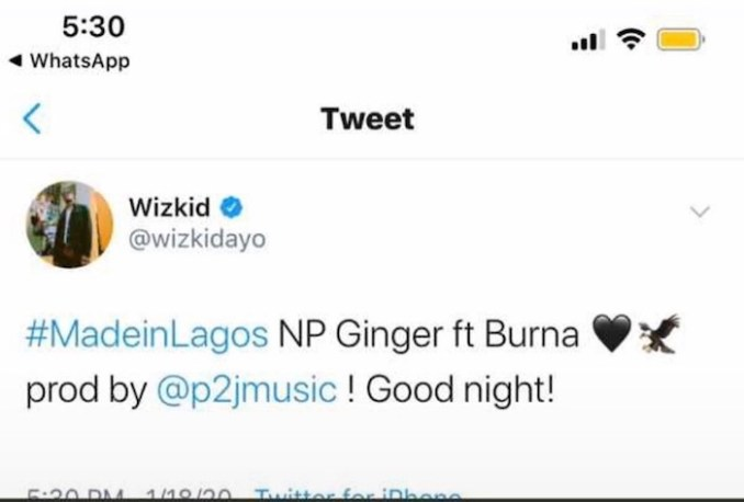 """Wizkid Teams Up With Burna Boy On A Song Titled """"Ginger"""" 1"""