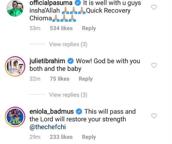 See How Toyin Abraham, Others Are Reacting To Davido's Wife, Chioma, Contracting Coronavirus 3