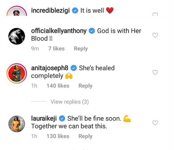 See How Toyin Abraham, Others Are Reacting To Davido's Wife, Chioma, Contracting Coronavirus 4