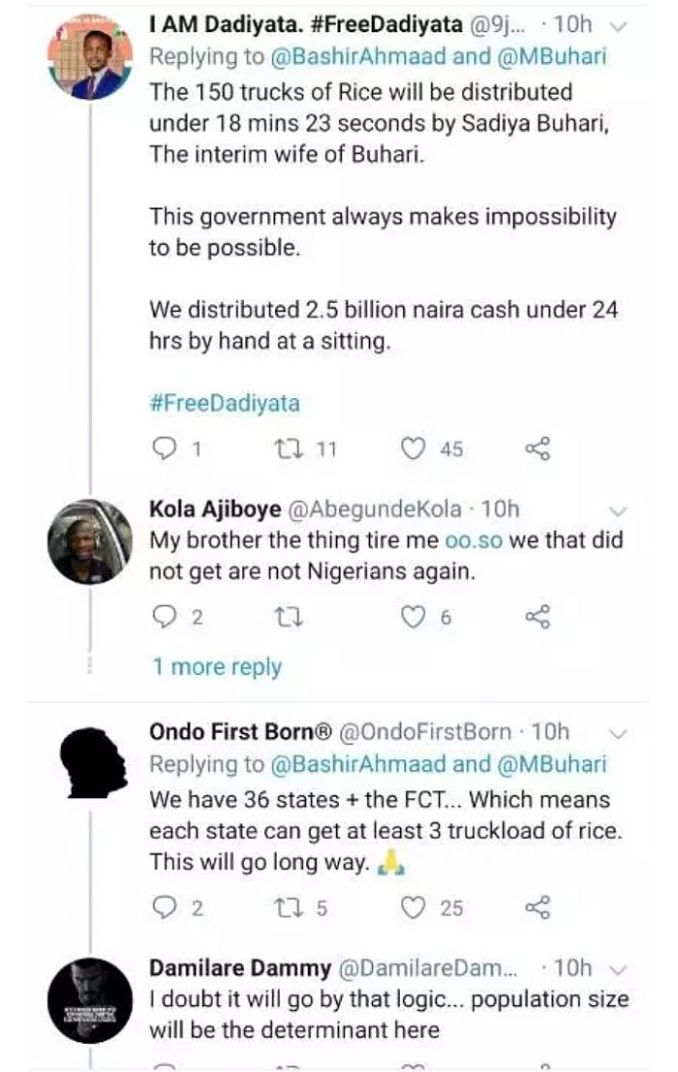 You Want To Give Us Same Rice You Said Was Poisonous? – Nigerians Hit Buhari Online 2