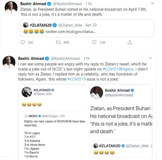 Buhari's Media Aide Replies Musician, Zlatan's For Saying Coronavirus Is Not Real 1