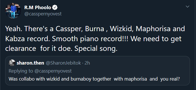 I Need A Clearance From Wizkid And Burna Boy To Drop Our Record – Cassper Nyovest 4