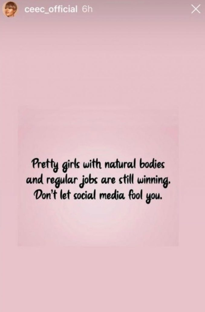 Don't Be Fooled. Pretty Girls With Natural Bodies And Regular Jobs Are Still Winning — Cee-C 1