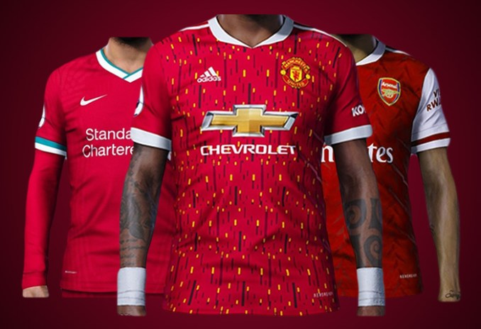 FOOTBALL LOVERS!! See Next Season Home Jerseys Of Man Utd, Liverpool And Arsenal, Which One Is The Finest?